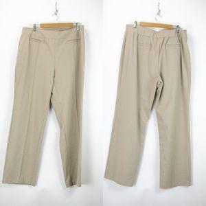 Cato Beige Elastic Waist Knit Pants